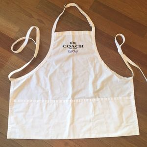 Coach apron. Kathy embroidered. OS